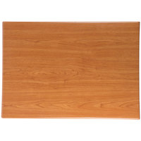 BFM Seating TTRS3048CH Resin 30 inch x 48 inch Rectangular Indoor Tabletop - Cherry