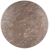BFM Seating CN24R Midtown 24 inch Round Indoor Tabletop - Concrete