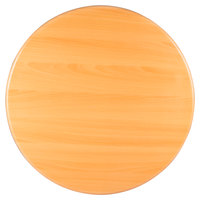 BFM Seating TTRS42RNT Resin 42 inch Round Indoor Tabletop - Natural