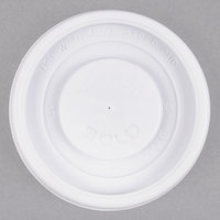 Dart Solo VL34R-0007 4 oz. White Plastic Travel Lid - 100/Pack