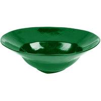 Tablecraft CW3570GN 10 Qt. Green Cast Aluminum Triangle Bowl