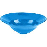 Tablecraft CW3570SBL 10 Qt. Sky Blue Cast Aluminum Triangle Bowl
