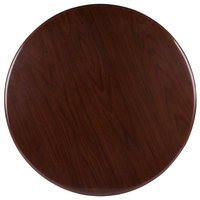 BFM Seating TTRS24RWA Resin 24 inch Round Indoor Tabletop - Walnut