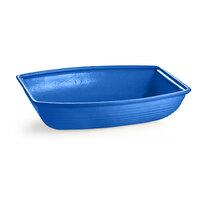 Tablecraft CW3195CBL 8 Qt. Cobalt Blue Cast Aluminum Oblong Salad Bowl