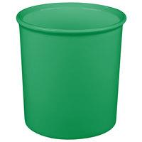 Tablecraft CW1680GN 2.5 Qt. Green Cast Aluminum Salad Dressing Bowl