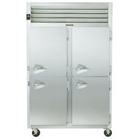 Traulsen G24302 Solid Half Door 2 Section Hot Food Holding Cabinet with Right Hinged Doors