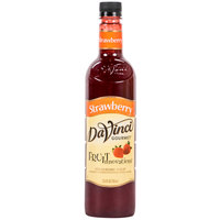 DaVinci Gourmet 750 mL Strawberry Fruit Innovations Cold Beverage Flavoring / Fruit Syrup