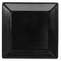 Tablecraft BKM1414 Frostone 14 inch Black Square Melamine Tray