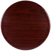 BFM Seating TTRS48RMH Resin 48 inch Round Indoor Tabletop - Mahogany
