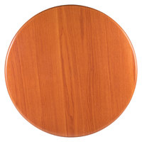 BFM Seating TTRS48RCH Resin 48 inch Round Indoor Tabletop - Cherry
