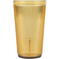 Carlisle 402013 Crystalon Stack-All 20.7 oz. Amber SAN Plastic Tumbler - 12/Case