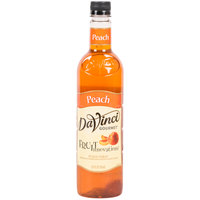 DaVinci Gourmet 750 mL Peach Fruit Innovations Cold Beverage Flavoring / Fruit Syrup