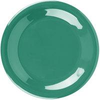 Carlisle 3301609 Sierrus 7 1/2 inch Meadow Green Wide Rim Melamine Salad Plate   - 48/Case