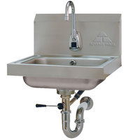 Advance Tabco 7-PS-51 Hands Free Hand Sink with Electric Faucet and Lever Operated Drain
