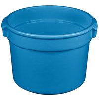 Tablecraft CW1310SBL 11 Qt. Sky Blue Cast Aluminum Bain Marie Soup Bowl