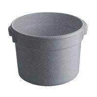 Tablecraft CW1312GR 5 Qt. Granite Cast Aluminum Half Soup Bowl