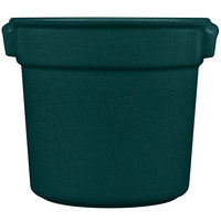 Tablecraft CW1300HGNS 7 Qt. Hunter Green with White Speckle Cast Aluminum Bain Marie Soup Bowl
