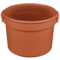 Tablecraft CW1310CP 11 Qt. Copper Cast Aluminum Bain Marie Soup Bowl
