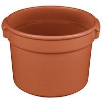Tablecraft CW1310CP 11 Qt. Copper Cast Aluminum Bain Marie Soup Bowl