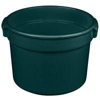 Tablecraft CW1310HGN 11 Qt. Hunter Green Cast Aluminum Bain Marie Soup Bowl