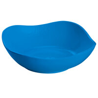 Tablecraft CW12082SBL 24 oz. Sky Blue Cast Aluminum Wavy Square Bowl