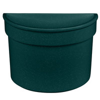 Tablecraft CW1312HGNS 5 Qt. Hunter Green with White Speckle Cast Aluminum Half Soup Bowl