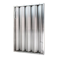 All Points 26-3896 25 inch(H) x 16 inch(W) x 2 inch(T) Stainless Steel Hood Filter - Ridged Baffles