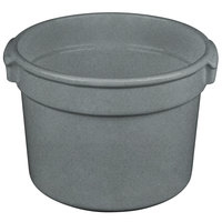 Tablecraft CW1310GR 11 Qt. Granite Cast Aluminum Bain Marie Soup Bowl