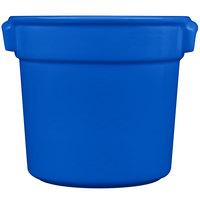 Tablecraft CW1300CBL 7 Qt. Blue Cast Aluminum Bain Marie Soup Bowl