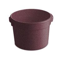 Tablecraft CW1310MAS 11 Qt. Maroon Speckle Cast Aluminum Bain Marie Soup Bowl