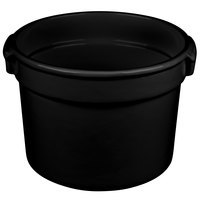 Tablecraft CW1310BK 11 Qt. Black Cast Aluminum Bain Marie Soup Bowl