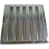 "All Points 26-4612 20"" x 20"" x 2"" Stainless Steel Hood Filter with Hook and Spark Arrestor - Kleen-Gard"