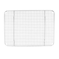 Vollrath 20248 Super Pan V 11 3/4 inch x 16 1/2 inch Footed Stainless Steel Cooling Rack for Half Size Bun / Sheet Pan