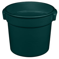 Tablecraft CW1300HGN 7 Qt. Hunter Green Cast Aluminum Bain Marie Soup Bowl