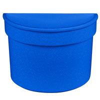 Tablecraft CW1312BS 5 Qt. Blue Speckle Cast Aluminum Half Soup Bowl