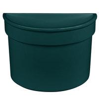 Tablecraft CW1312HGN 5 Qt. Hunter Green Cast Aluminum Half Soup Bowl