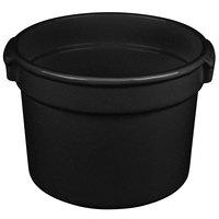Tablecraft CW1310BKGS 11 Qt. Black with Green Speckle Cast Aluminum Bain Marie Soup Bowl