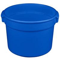 Tablecraft CW1310CBL 11 Qt. Blue Cast Aluminum Bain Marie Soup Bowl