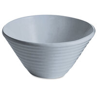 Tablecraft CW13080GY 2.5 Qt. Gray Cast Aluminum Round Bowl with Rings
