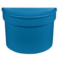 Tablecraft CW1312SBL 5 Qt. Sky Blue Cast Aluminum Half Soup Bowl
