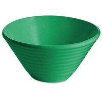 Tablecraft CW13080GN 2.5 Qt. Green Cast Aluminum Round Bowl with Rings