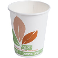 Bare by Solo 370PLA-J7234 Eco-Forward 10 oz. Paper Hot Cup - 1000/Case
