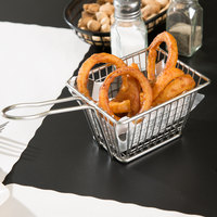 5 inch x 4 inch x 3 inch Rectangular Stainless Steel Fry Basket