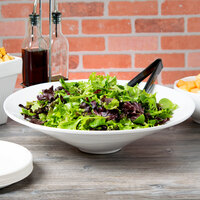 Tablecraft CW13090W 4.5 Qt. White Cast Aluminum Round Bowl with Rings