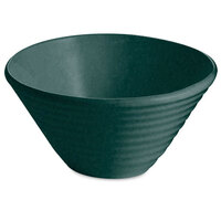 Tablecraft CW13080BKGS 2.5 Qt. Black with Green Speckle Cast Aluminum Round Bowl with Rings