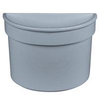 Tablecraft CW1312GY 5 Qt. Gray Cast Aluminum Half Soup Bowl