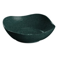 Tablecraft CW12080HGNS 1.5 Qt. Hunter Green with White Speckle Cast Aluminum Wavy Square Bowl