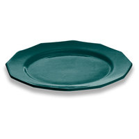 Tablecraft CW1795HGN 13 inch Hunter Green Cast Aluminum Round Prism Plate