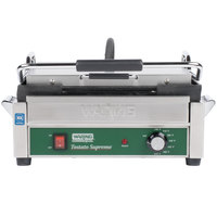 Waring WFG250C 14 1/2 inch x 11 inch Toastato Supremo Large Smooth Top & Bottom Panini Grill - 120V (Canadian Use Only)