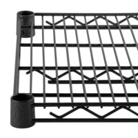 Regency 24 inch x 72 inch NSF Black Epoxy Wire Shelf